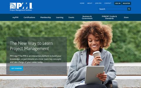 Screenshot of Home Page pmi.org - PMI | Project Management Institute - captured Nov. 6, 2018