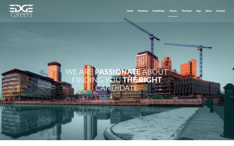 Screenshot of Services Page edgecareers.co.uk - Edge Careers | Client Recruitment Services - captured Feb. 7, 2016