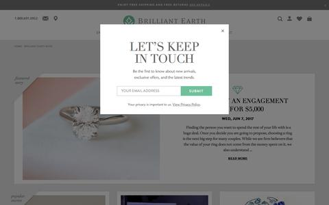 Screenshot of Press Page brilliantearth.com - Engagement Ring Styles, Celebrity Engagement Rings | Brilliant Earth - captured June 25, 2017