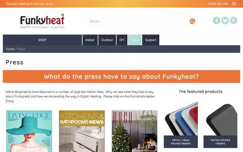 Screenshot of Press Page funkyheat.co.uk - Press | Funkyheat - captured June 6, 2017