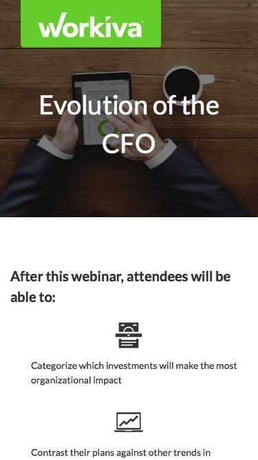 Evolution of the CFO  |  Workiva