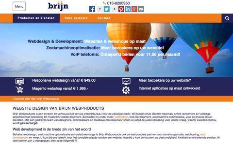 Screenshot of Home Page brijn.com - Kwaliteit webdesign, webdevelopment en SEO optimalisatie - captured Jan. 24, 2015