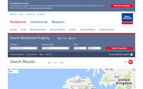 Screenshot of Maps & Directions Page sherryfitz.ie - Houses & apartments for sale in Ireland - Sherry FitzGerald - captured Nov. 18, 2016