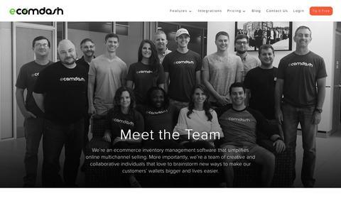 Screenshot of Team Page ecomdash.com - Inventory Management Team that SupportsOnline Sellers - captured Sept. 20, 2018