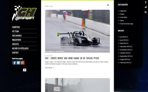 Screenshot of Blog gh-motorsport.be - | GH Motorsport - captured Sept. 27, 2014
