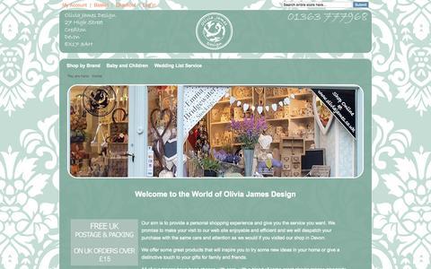 Screenshot of Home Page oliviajames.co.uk - Emma Bridgewater Pottery Stockists | Susie Watson | Home Accessories - captured Oct. 7, 2014
