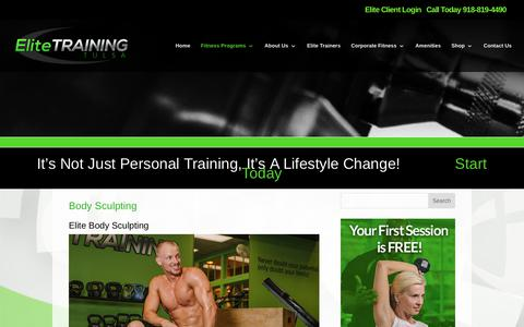 Elite Training Tulsa | Body Sculpting | Personal Training Tulsa | Elite Training