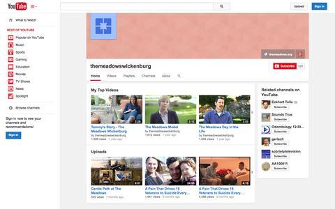 Screenshot of YouTube Page youtube.com - themeadowswickenburg  - YouTube - captured Nov. 4, 2014