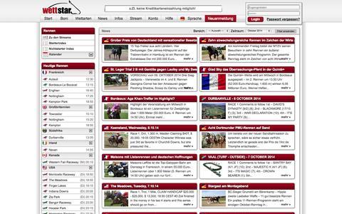 Screenshot of Press Page wettstar.de - Pferdewetten - wettstar.de - captured Oct. 7, 2014