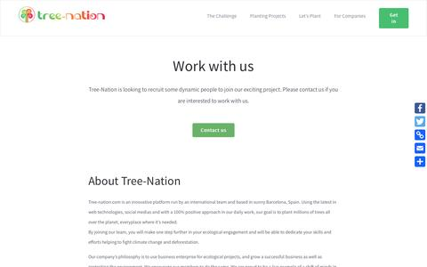 Screenshot of Jobs Page tree-nation.com - Work with us – Tree-Nation - captured May 6, 2017