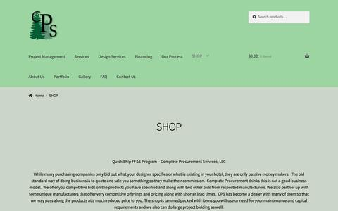 Screenshot of Products Page completeprocurement.com - Quick Ship FF&E Program - Complete Procurement Services, LLC - captured Sept. 29, 2018