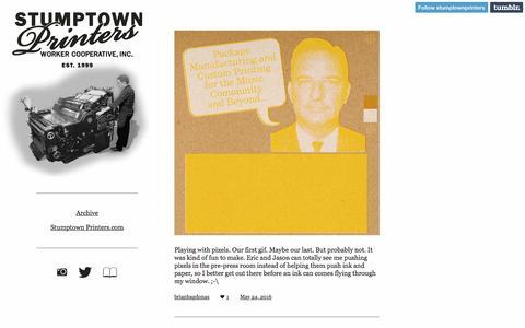 Screenshot of Press Page stumptownprinters.com - Stumptown Printers - captured June 11, 2016