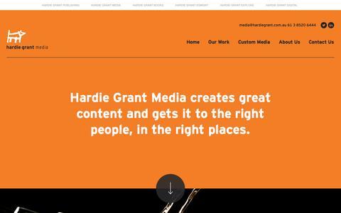Screenshot of Press Page hardiegrant.com.au - Custom Publisher | Hardie Grant Media | Custom Magazine Publishing | Branded Content Marketing - captured Sept. 19, 2014