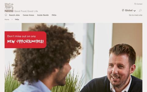 Screenshot of FAQ Page nestle.com - FAQs | Nestlé - captured Nov. 19, 2018