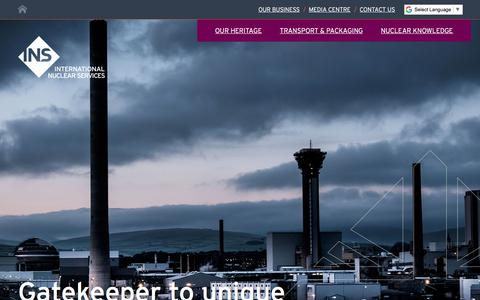 Screenshot of Home Page innuserv.com - International Nuclear Services (INS) | Nuclear Transport, packaging and knowledge - captured Oct. 15, 2017