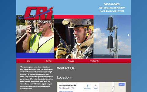Screenshot of Contact Page cri-technologies.com - Contact Us  |  CRI Technologies - captured Oct. 28, 2014