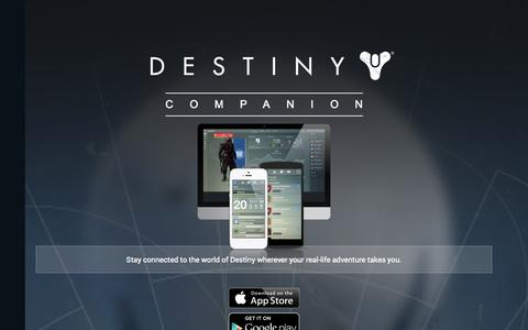 Screenshot of Home Page bungie.net - Bungie - captured Sept. 18, 2014