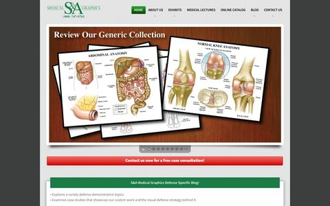 Screenshot of Home Page seifmedicalgraphics.com - Home - S&A Medical Graphics | S&A Medical Graphics - captured Jan. 23, 2015