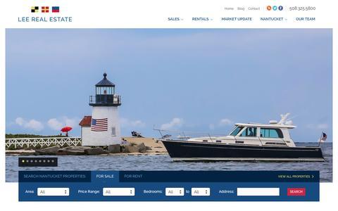 Screenshot of Home Page leerealestate.com - Home - Lee Real Estate - captured Sept. 29, 2014