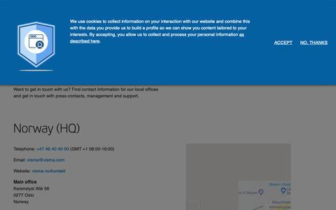Screenshot of Contact Page visma.com - Contact - Visma - captured June 11, 2019