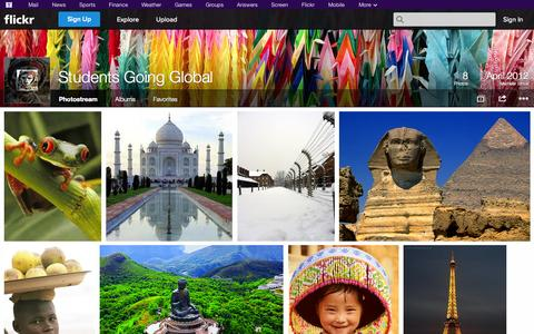 Screenshot of Flickr Page flickr.com - Flickr: Students Going Global's Photostream - captured Oct. 25, 2014
