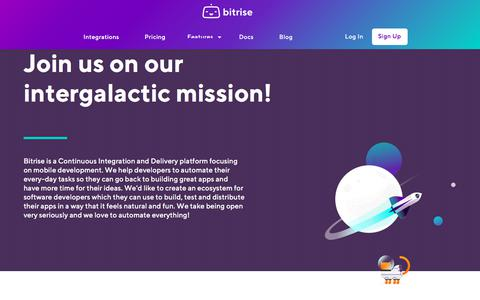 Screenshot of Jobs Page bitrise.io - Bitrise | Come, work at Bitrise - captured June 29, 2018