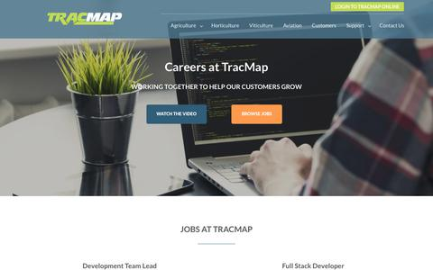 Screenshot of Jobs Page tracmap.com - Careers I Work with us I Jobs at TracMap - captured Oct. 19, 2018