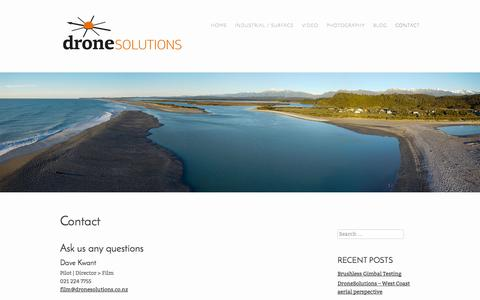 Screenshot of Contact Page dronesolutions.co.nz - Contact   DroneSolutions - captured Oct. 5, 2014