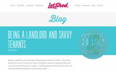 Screenshot of Blog letshed.co.uk - Blog - Letshed - captured Oct. 2, 2014