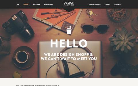 Screenshot of About Page designshopp.com - About - Design Shopp - captured Sept. 30, 2014