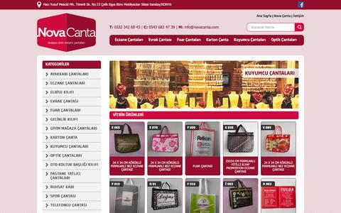 Screenshot of Home Page novacanta.com - Nova Çanta | Promosyon Çanta, Bez Çanta - captured March 14, 2016