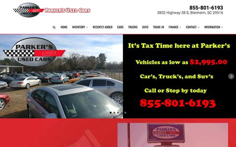 Home | Parker's Used Cars | Used Cars For Sale in Florence Myrtle Beach Charlotte Bennettsville