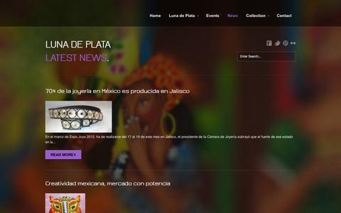 Screenshot of Press Page lunadeplata.nl - Luna de Plata  » News - captured Oct. 3, 2014