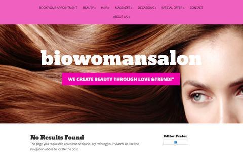 Screenshot of Home Page biowomansalon.com - Biowoman Salon , Spa & Showroom - captured Oct. 5, 2014