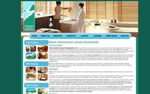 Screenshot of About Page ilc-world.com - International Leisure Consultants, Leisure Consulting, ILC Consultants, Spa Consultants, Golf Consultants, Club Consultants, Boutique Resort Hotels Consultants, Leisure Consultants - captured Oct. 6, 2014
