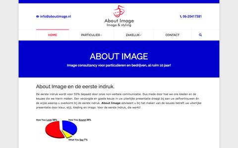 Screenshot of Home Page aboutimage.nl - ABOUT IMAGE | Image consultanty voor bedrijf, zzper & particulier - captured Nov. 20, 2016