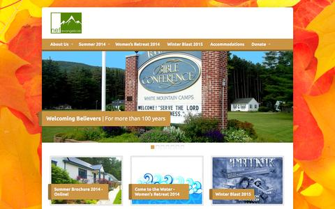 Screenshot of Home Page rumneybibleconference.org - New England Fellowship of Evangelicals - - captured Oct. 6, 2014