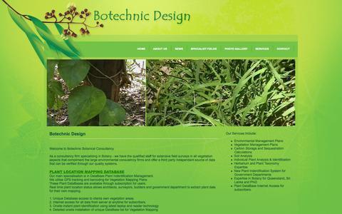 Screenshot of Home Page botechnic.com.au - Botechnic Design - captured Oct. 5, 2014
