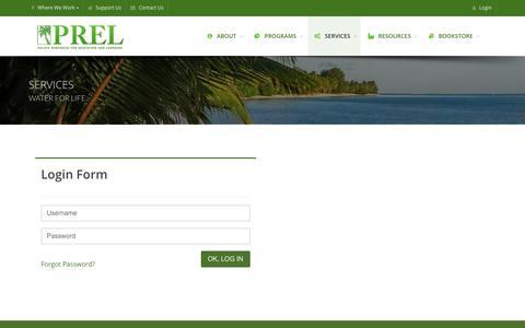 Screenshot of Login Page prel.org - PREL - captured Sept. 25, 2018