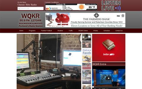 Screenshot of Home Page wqkr.com - WQKR 95.9FM/1270AM Portland's Radio Station - captured July 11, 2014