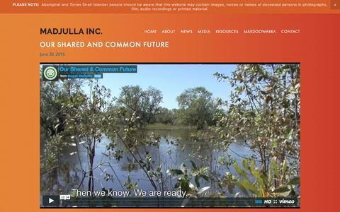 Screenshot of Press Page majala.com.au - Media — Madjulla Inc. - captured March 12, 2016