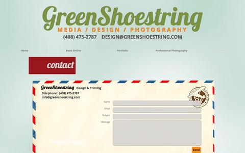 Screenshot of Contact Page greenshoestring.com - Contact - captured Nov. 16, 2016