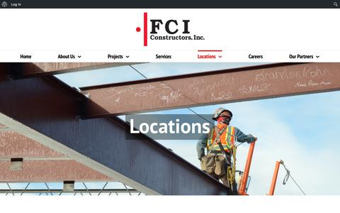 Screenshot of Contact Page Locations Page fciol.com - Locations – FCI Constructors - captured Oct. 10, 2018