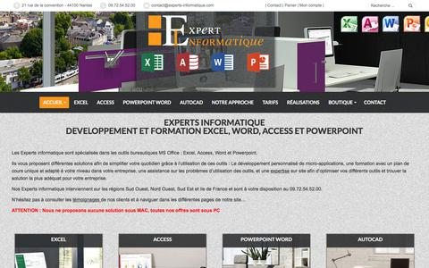 Screenshot of Home Page experts-informatique.com - Experts informatique, Excel, Access, Word, Powerpoint - captured Feb. 12, 2018