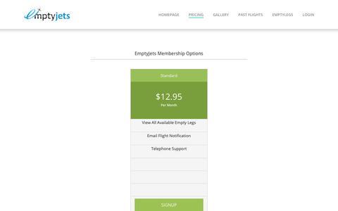 Screenshot of Pricing Page emptyjets.com.au - Pricing - Emptyjets - captured Dec. 15, 2018