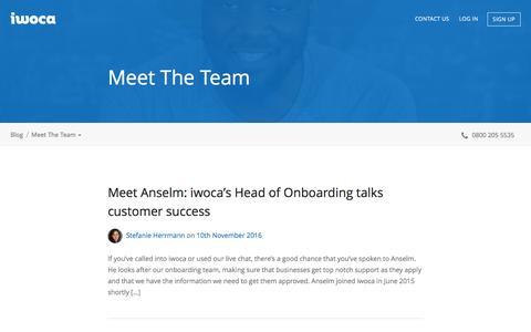 Screenshot of Team Page iwoca.co.uk - Meet The Team Archives - Blog - captured Dec. 11, 2016