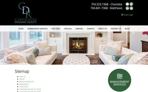 Screenshot of Site Map Page carolinasdynamicrealty.com - Sitemap - Carolinas Dynamic Realty - captured July 11, 2016