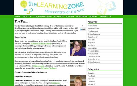 Screenshot of Team Page thelearningzone.co.za - The Team | - captured Oct. 9, 2014