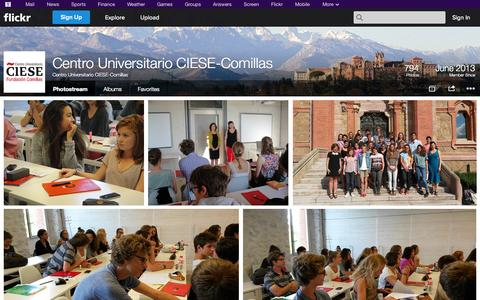 Screenshot of Flickr Page flickr.com - Flickr: Centro Universitario CIESE-Comillas' Photostream - captured Oct. 22, 2014