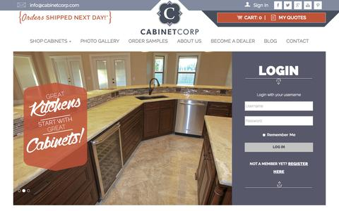 Screenshot of Login Page cabinetcorp.com - Home - CabinetCorp - captured Nov. 1, 2014